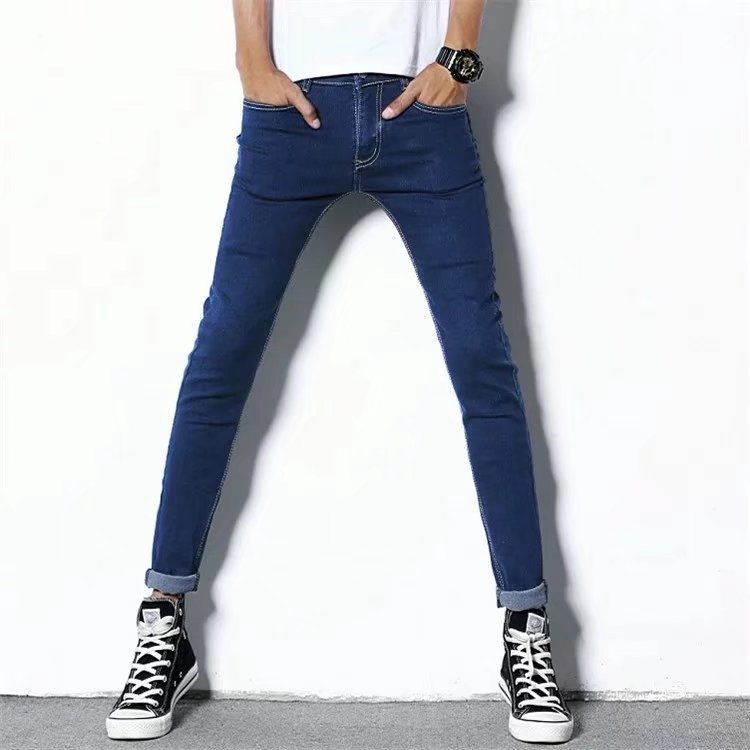 Elasticity MEN'S Jeans 2020 Spring New Style Popular Brand Straight Slim Korean-style Trend Skinny Versatile Long Pants