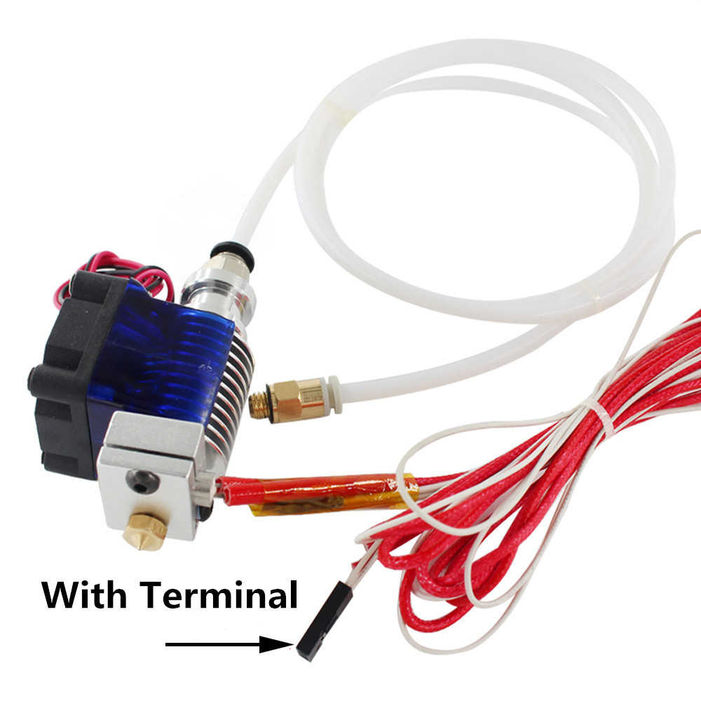 3D Printer Onderdelen E3D V6 Hotend Kit 0.4/1.75MM J-head Remote extruder 12V 24V met Koelventilator Teflon buis
