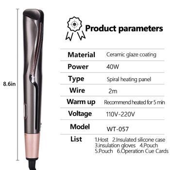 Hair Straightener Curling Iron 2 in 1 Tourmaline Ceramic Twisted Flat Iron Twist Straightening Irons S6606 Perming&Straight 5