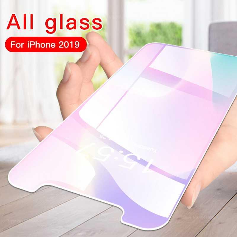 Depan Kaca Tempered untuk iPhone 11 Pro Max X XR X MAX Transparan Pelindung Layar untuk iPhone Ke 11 Pelindung safety Film