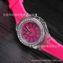 A0002 Fashionable Luminous LED Kids Watch Candy Color Silicone Watch