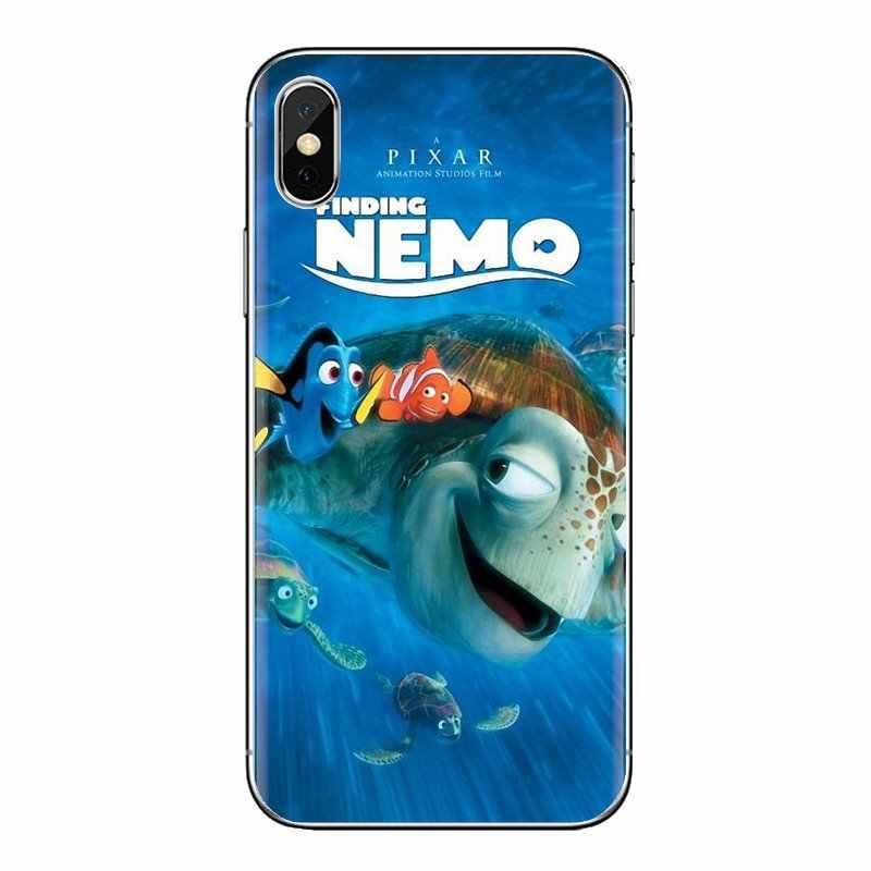 Tubarão branco Mi3 Procurando Nemo Dory peixe Para Xiaomi Samsung A10 A30 A40 A50 A60 A70 Galaxy Note 2 S2 grande Núcleo Prime TPU Caso Saco