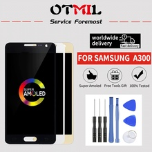 цены Super AMOLED For SAMSUNG Galaxy A3 LCD Display Touch Screen Digitizer For SAMSUNG A300 2015 Display A300F A300H A300X A300M LCD