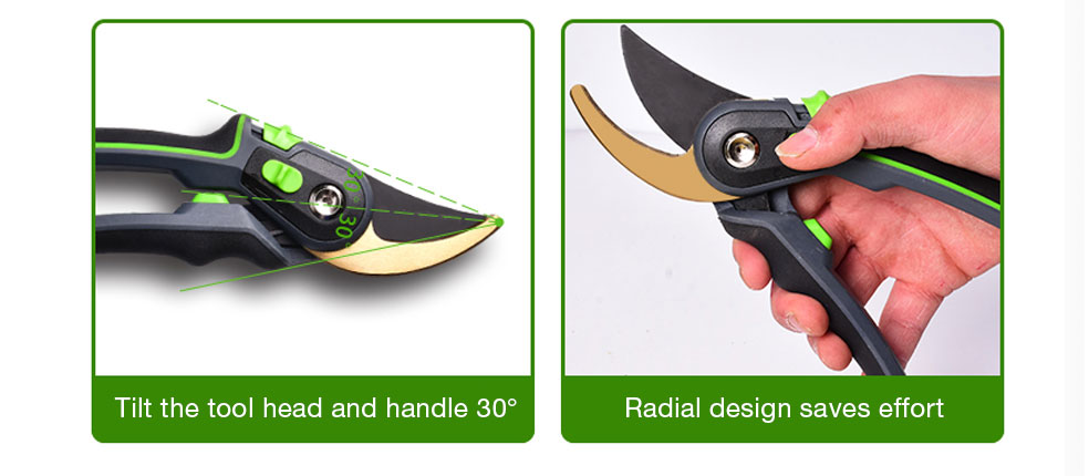 AI-ROAD flower shears withe degree variations