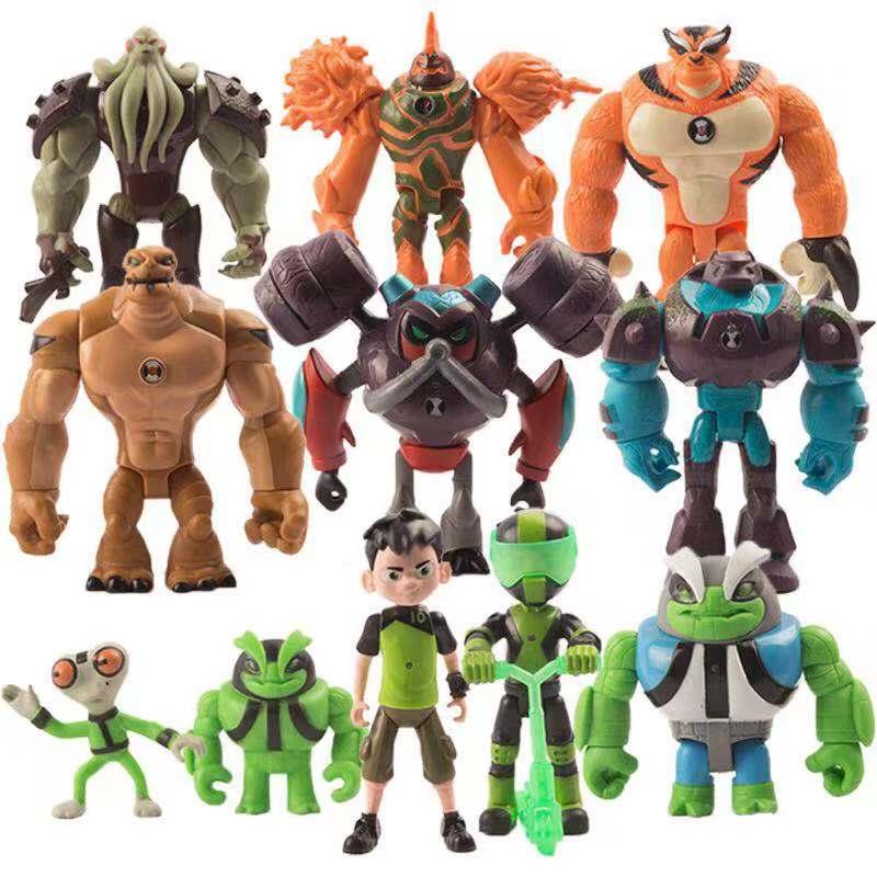 10 Brinquedos Ben Tennyson Grey Importa Modelo Figuras Heróis Kawaii Dos Desenhos Animados Toy Action Figure Presente de Aniversário Brinquedos 11 pçs/lote Nova Moda