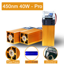 40W laser module fixed focus laser head 450nm blue laser, used for laser cutting machine CNC DIY laser engraving tool