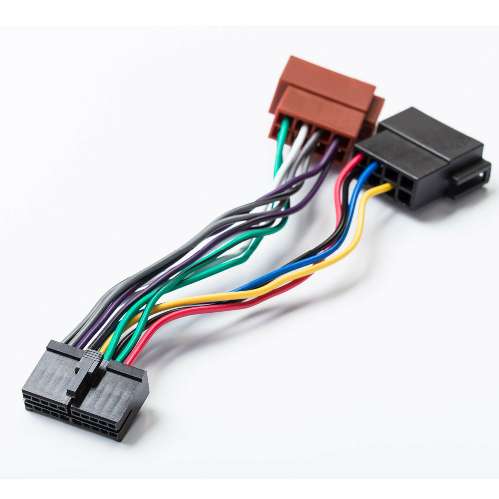 Adaptador de rádio para carro, adaptador de rádio para carro com 20pin conector universal din para aeg