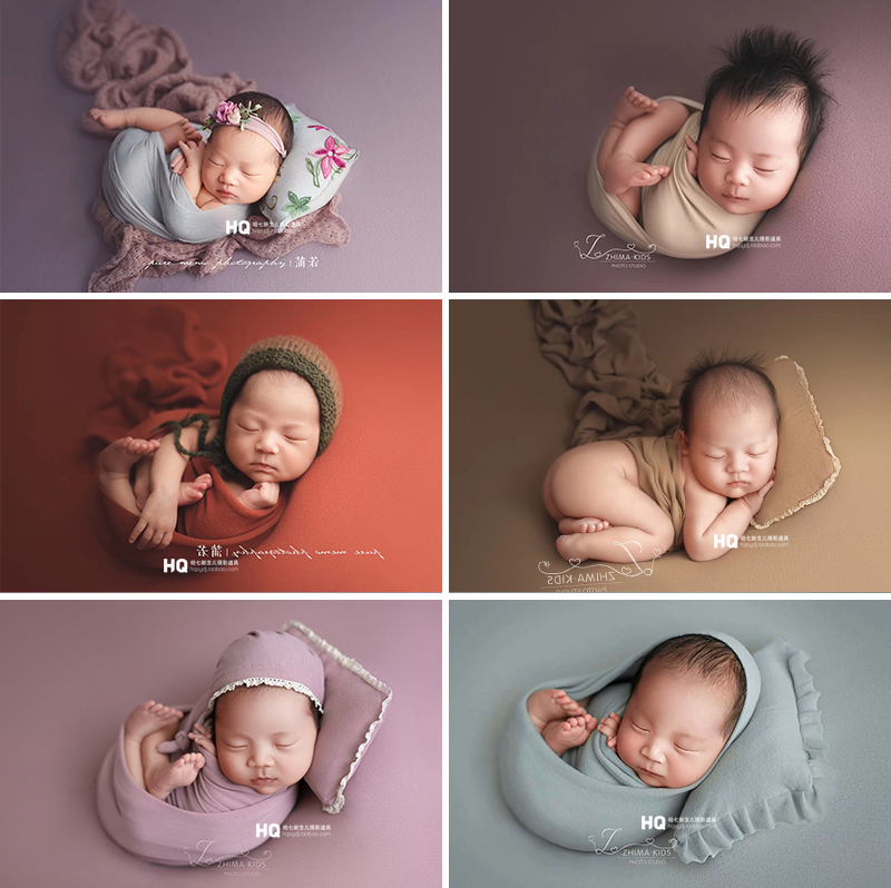 2020 Fotografia Baby Stretchy Knitted Wrap Newborn Photography Props Unisex Photo Studio Swaddling  Accessories New Arrival
