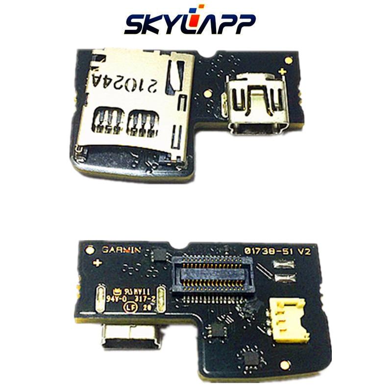 Original PCB W Mini USB & MicroSD Holder For Garmin Edge 810 TYPE-10 (810 Touring) GPS Repair Replacement Board Free Shipping