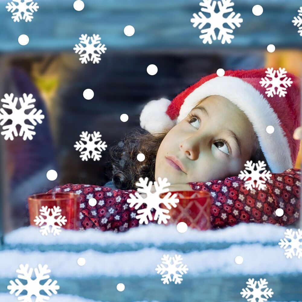 Decoraciones de Navidad para el hogar nieve Navidad decoración dormitorio pared pegatinas papel pintado Año Nuevo pegatinas chico habitación decoración Navida