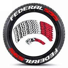 Araba harfleri uygun FEDERAL çıkartmalar yüklü lastikler araba lastiği için dekorasyon çıkartmaları kolay kurulum