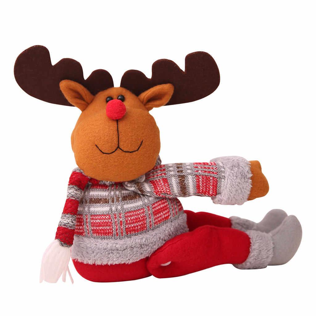 2020 คริสต์มาส Santa Claus Elk Snowman ตุ๊กตาผ้าม่าน Window PARTY Decor ของขวัญบ้านผ้าม่านอุปกรณ์เสริม anneau Rideau F927