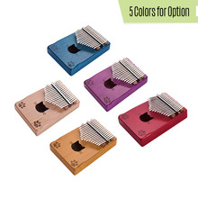 Stickers Kalimba Tuning-Hammer Mbira Thumb-Piano Wood Musical 17-Key with Carry-Bag Cleaning-Cloth