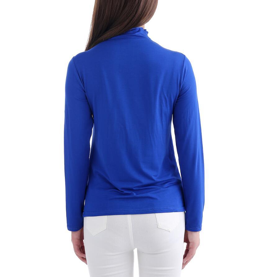 12 Colors Women's Dresses Muslim Basic Blouses Dubai Turkish Tops Long sleeved Salwar Top Mujer High Collar T shirt Muslim Tunic