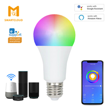 WiFi Smart LED Bulb E27 9W RGB+White Dimmable Timer Living Room Decor Bubble Ball Light Supports Alexa Google IFTT Voice Control