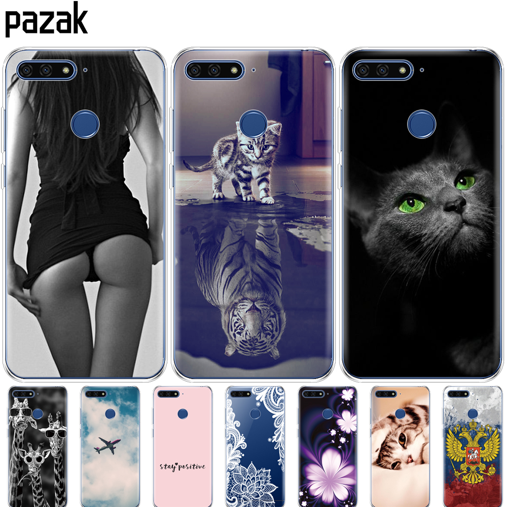 Silicone Phone Case For Huawei Honor 7C 5.7