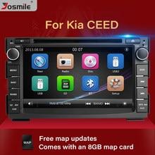Radio con GPS para coche, reproductor con DVD, 2DIN, 7 pulgadas, navegador Glonass, cámara estéreo, 8 GB, tarjeta de mapa, para Kia Ceed, Kia, Venga, 2010, 2011, 2012