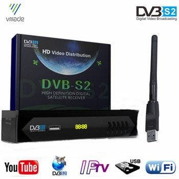 цена на Hot Sale Europe Fully HD 1080P Satellite TV Receiver DVB S2 Digital TV Tuner Support Bisskey IKS IPTV Dolby AC3 Audio + USB WIFI