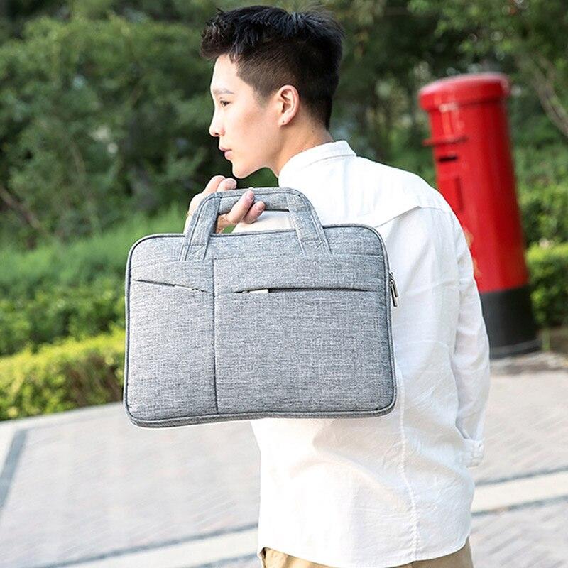 16in Men Simple Briefcase Oxford Cloth Waterproof Wear-resistant Laptop Bag J9