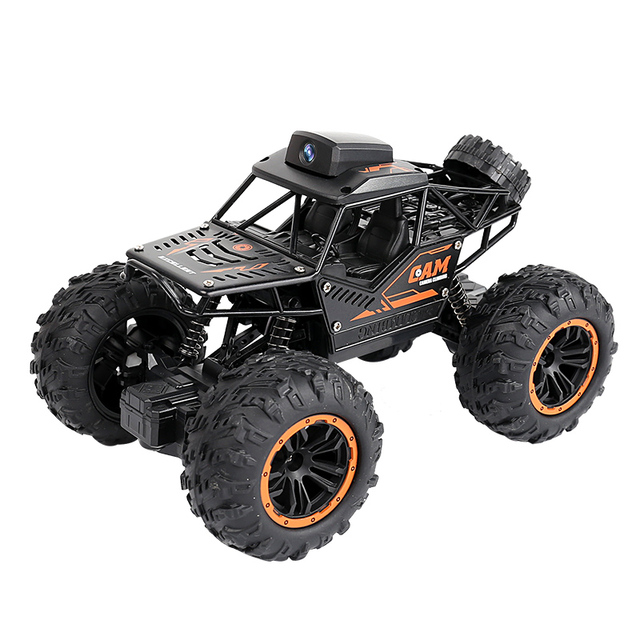 Newest 2.4G WIFI FPV RC Car With 2MP HD Camera Remote Control Crawl Off Road RC Racing Car with 3pcs car battery phone control 3