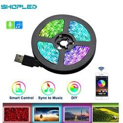 Magasin LED bande Led USB Led bande lumière DC 5V Flexible lumière LED ruban ruban 0.5M 1M 2M 3M HDTV TV écran de bureau rétro-éclairage lampe d'éclairage