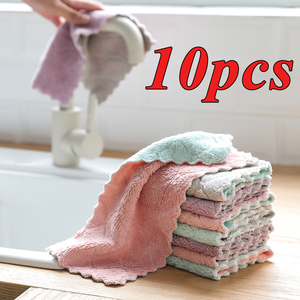 10pcs Super Absorbent Microfiber Kitchen Dish Cloth High-efficiency Tableware Household Cleaning Towel Kitchen Tools Gadgets