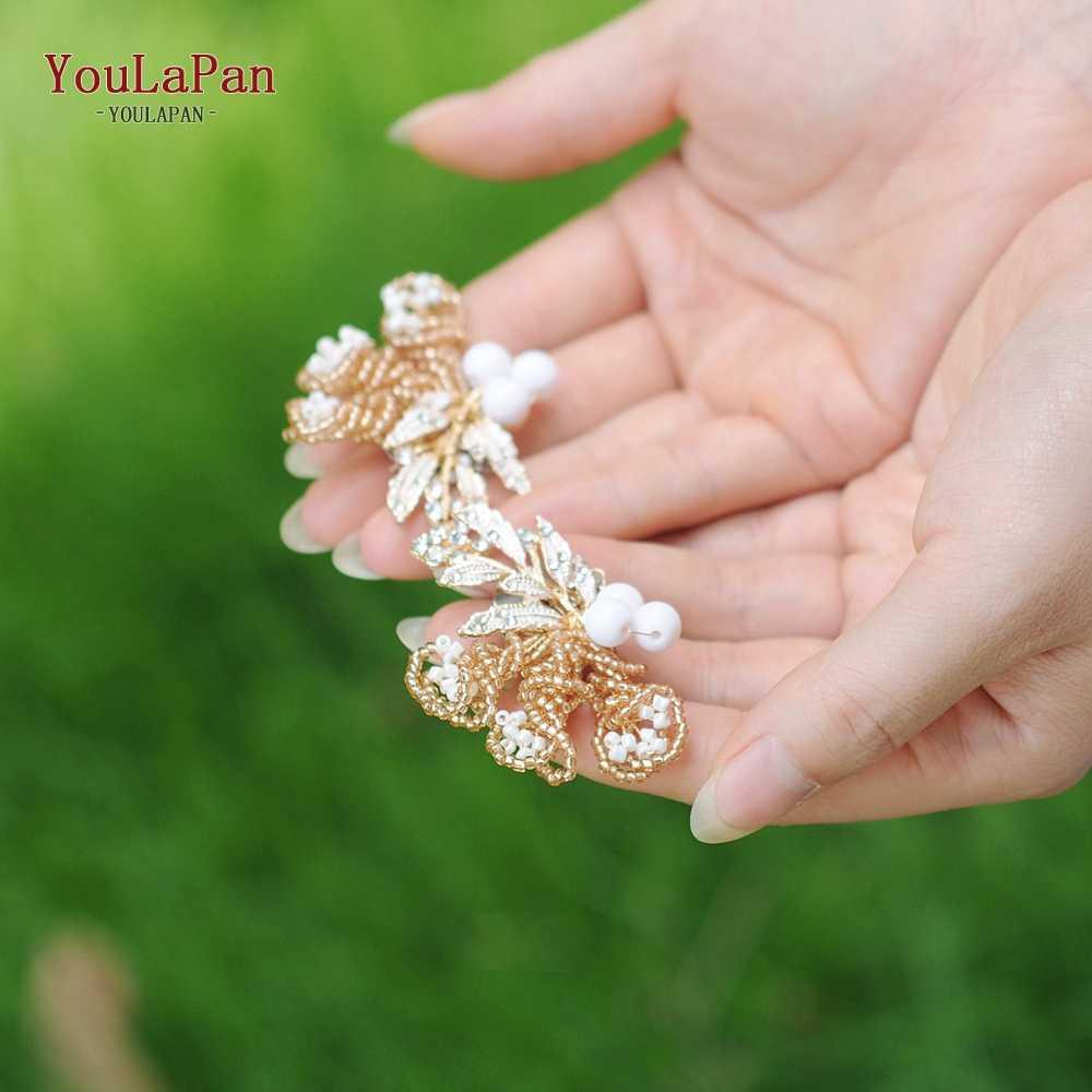 YOULAPAN X04 2 stücke Goldene perlen hochzeit Schuh Schnalle braut schuh Clips Für Frauen Braut Hohe Ferse dekoration Schnelle Lieferung