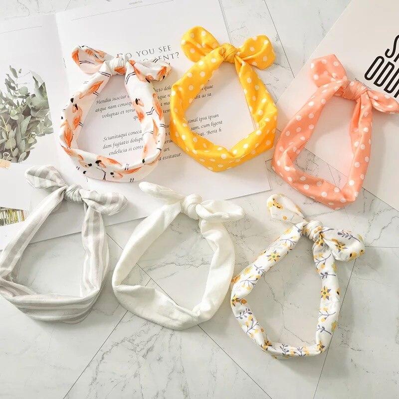3/6PCS Baby Headband For Girls Bowknot Flower Hair Band Accessories Baby Headwear Cotton Headwear Baby Girls Hair Accessories
