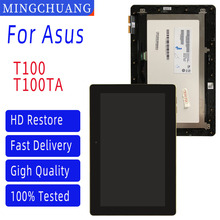 10.1 para asus transformer book t100 Polegada t100chi lcd display conjunto de digitalizador de tela de toque com conjunto de quadro