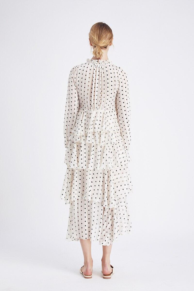vestido feminino 2020 moda com decote em