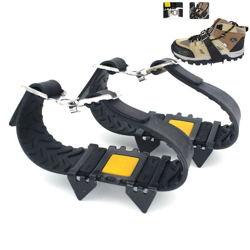 High Quailty 4 Teeth Crampons Non-slip Crampons Ice Gripper Spike Grips Cleats For Ice Snow Climbing