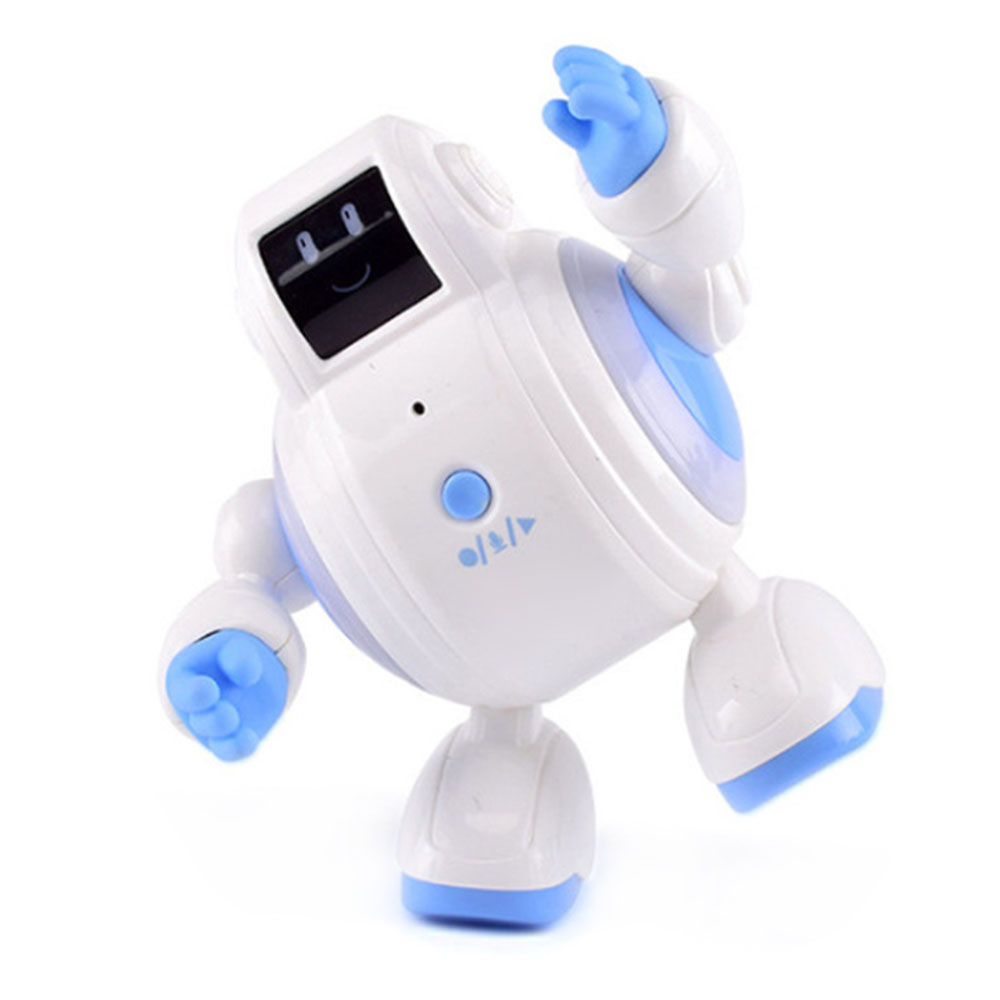 New Arrival Magic Sound Robot Dynamic Music Free Swing Shape Funny Facial Expression Touch Induction Robot With Light 2019 Hot