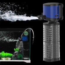 Filtro interno de acuario silencioso Sunsun, filtro de Tanque De Agua de peces sumergible, generador de oxígeno, bomba de filtro de esponja 5/14/20/35W, 220V
