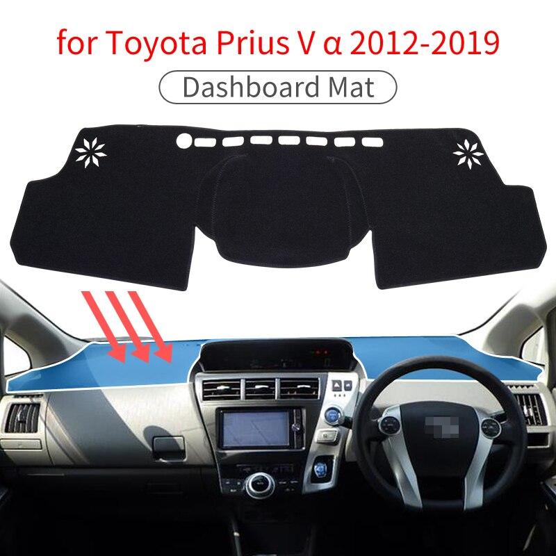 For Toyota Prius V α Daihatsu Mebius 2012 2013 2014 2015 2016 2017 2018 2019 ZVW40 Accessories Anti-Slip Mat Dashboard Cover Pad