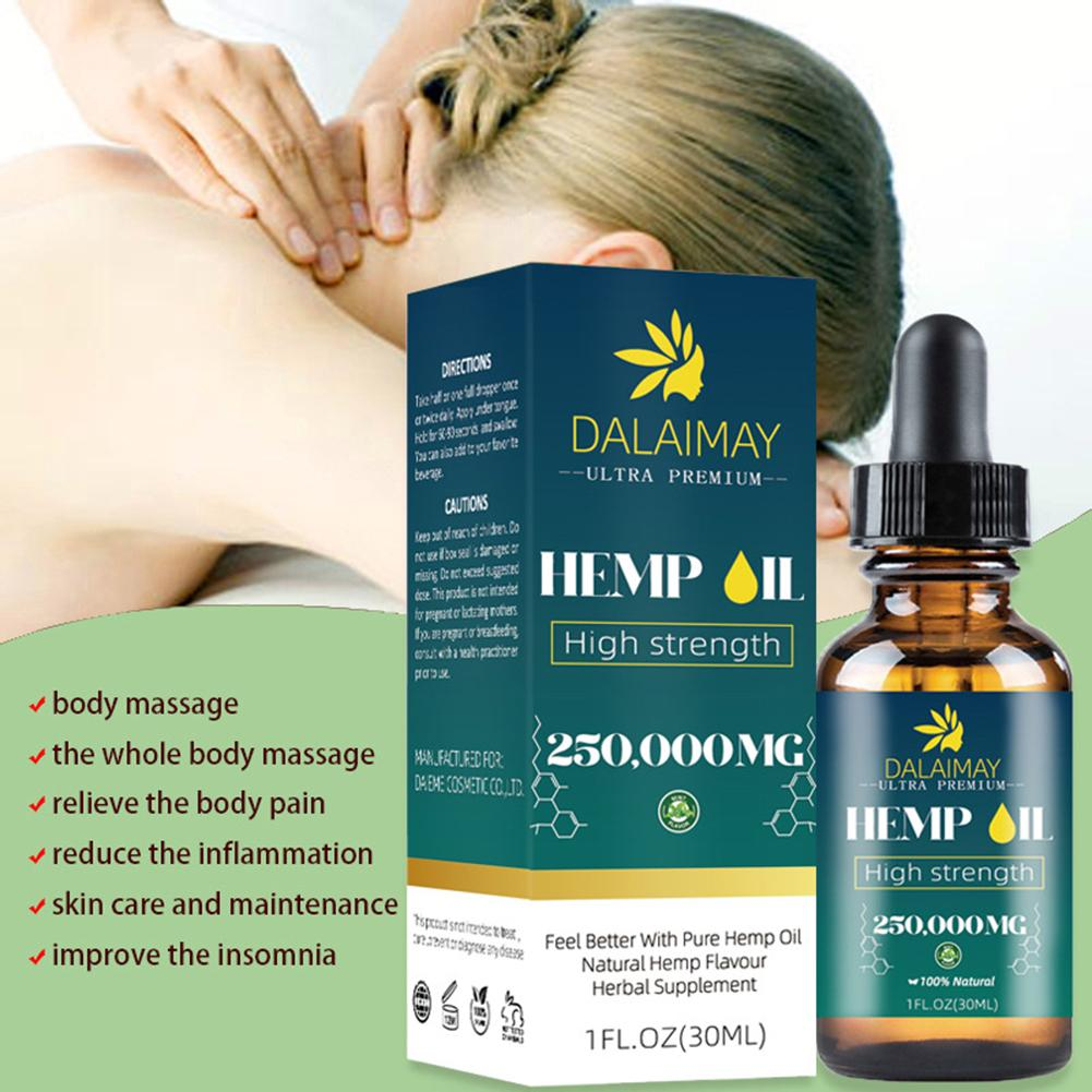 Natural Organic Hemp Seed Oil Essential Oil Extract For Anxiety & Stress Relief Improve Sleep Soothing Fatigue Body Massage Oil-1