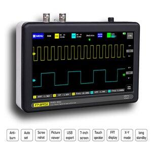 Image 3 - 1013D 2 قنوات 100MHz الفرقة عرض 1GSa/s معدل أخذ العينات راسم USB مع 7 بوصة لون TFT LCD لمس شاشة راسم