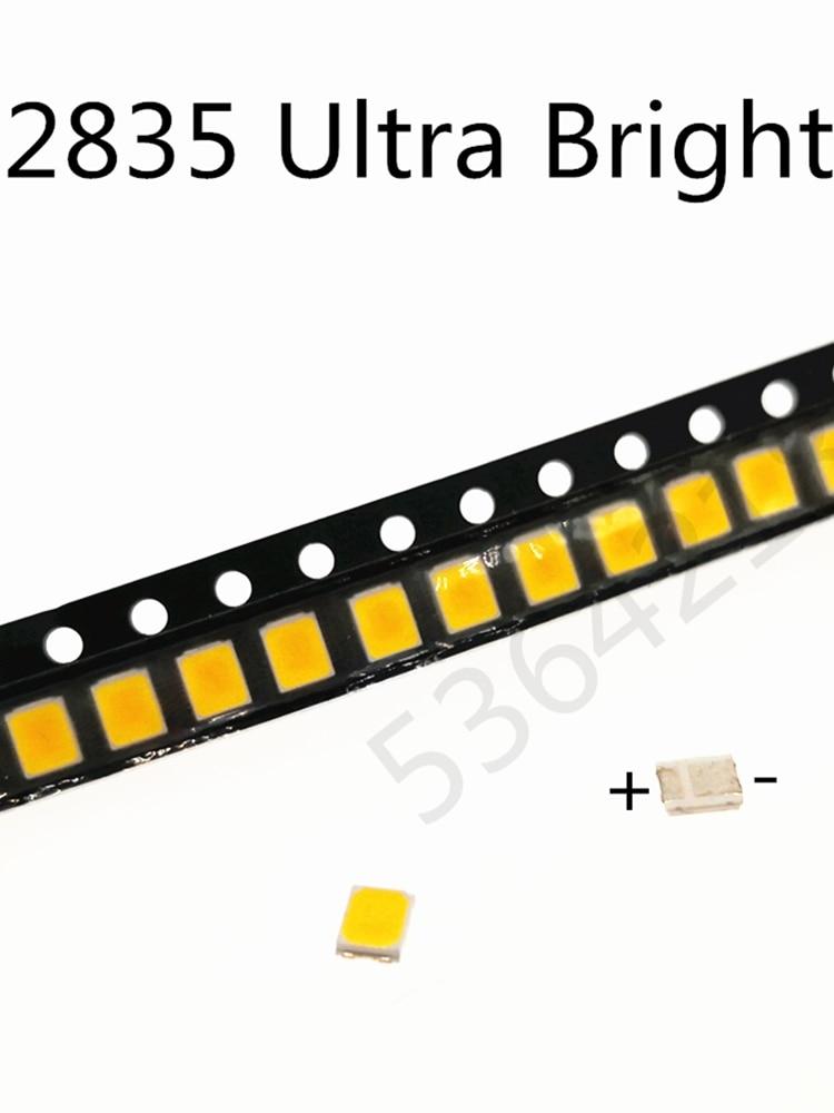 100Pcs High Brightness SMD LED 2835 1W White 6V 9V 18V 36V 150MA 100MA 30MA 60MA