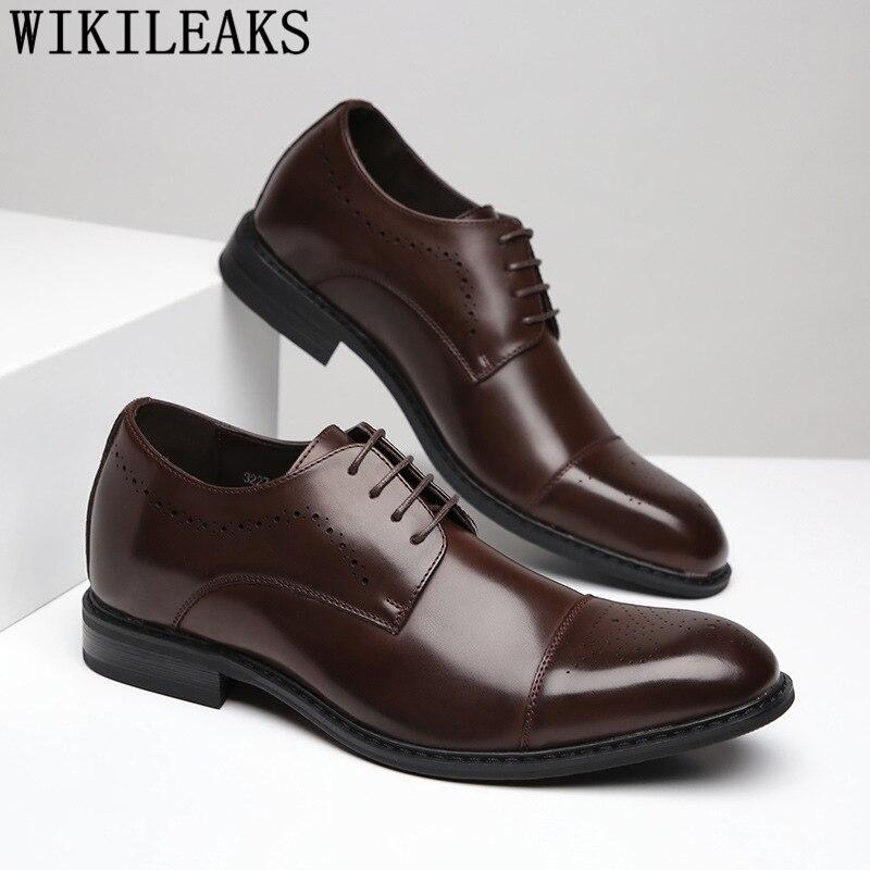 Elevator Shoes For Men Black Suit Shoes