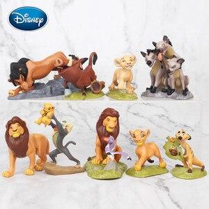 Disney 9pcs/set Lion King Simba King Knife Ding Man Peng Peng Animal PVC Toy Doll Micro View Decoration Kids Gift Toys Doll