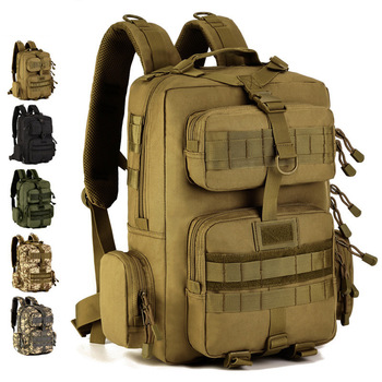 Mochila táctica Militar del ejército, morral Militar de 14 pulgadas para ordenador portátil, para acampar al aire libre, senderismo, Bolsa de camuflaje, Bolsa de Tatica