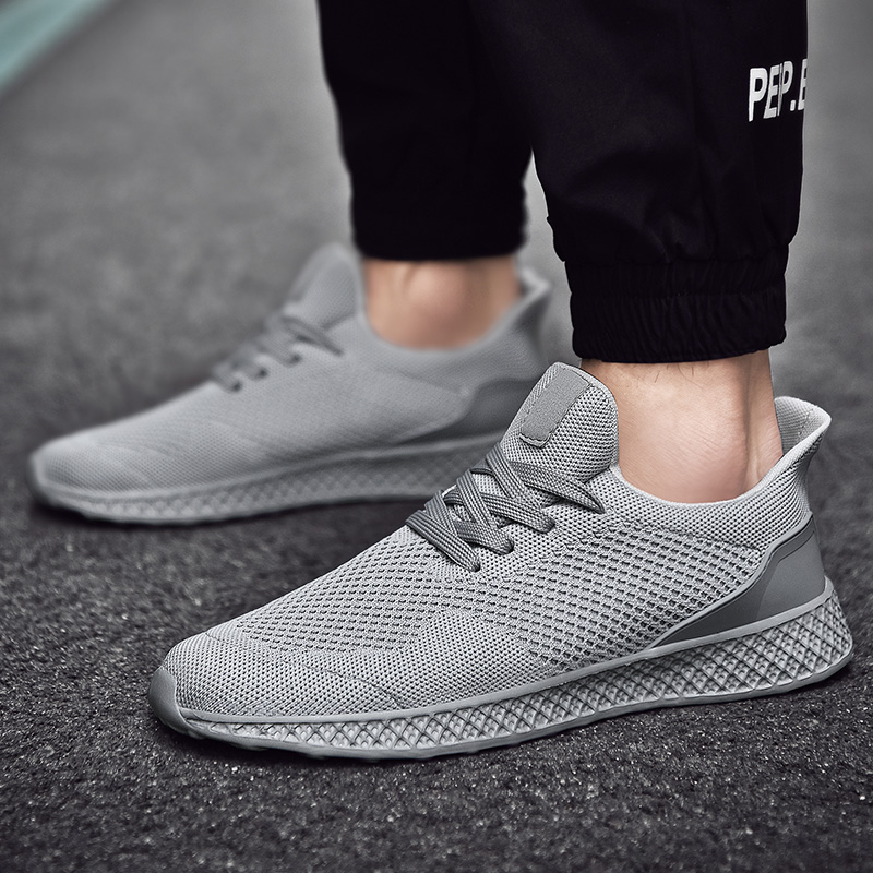 Running Shoes Men 2019 Spring Summer Walking Sneakers Athletic Shoes Breathable Comfortable Trainers Light Flats Men Sport Shoes