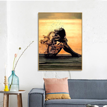 Painting By Number Girl Drawing On Canvas HandPainted Wall Art DIY Pictures Figure Home Decoration Gift Kits