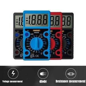 Image 2 - AN8206 /A830L Mini dijital multimetre LCD geniş ekran dalga çıkışı amper gerilim Ohm Tester aşırı yük koruması