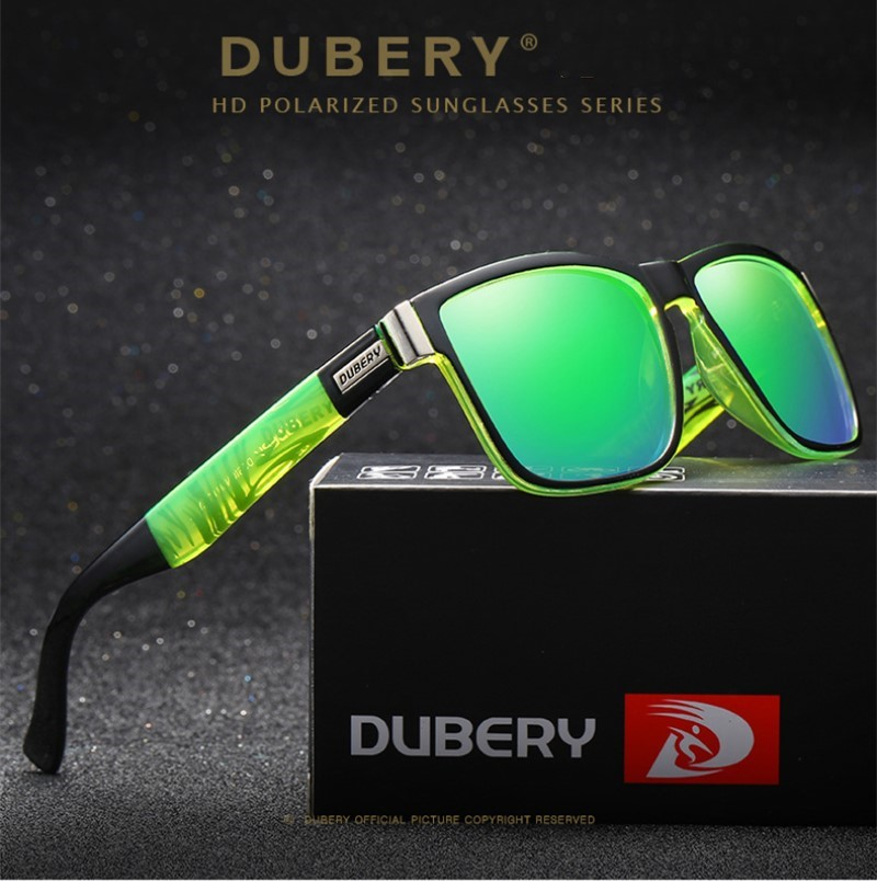 DUBERY Polarized Sunglasses Cycling Outdoor Sports Hiking Sunglasses Male Sun Glasses For Men Retro Cheap Luxury Brand Designer