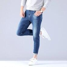 Stretch Men Business Pant Classic Male High Quality Jeans Plus Size Baggy Straight Men Denim Pants Cotton Blue Biker Jeans Men цена в Москве и Питере