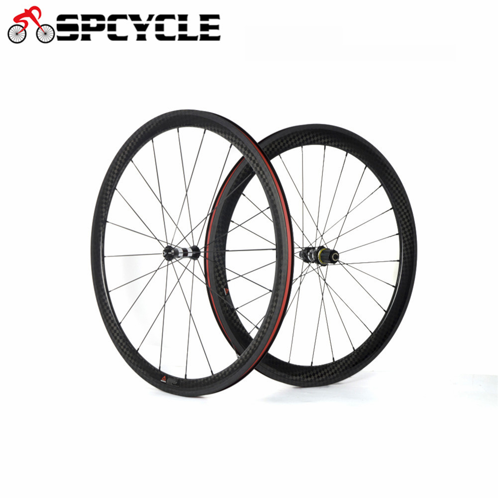 12k Twill Matt Carbon Bicycle Wheels DT 350 Hubs Road Bike Racing Bicycle Carbon Wheelset Width 25mm Front 38mm Rear 50mm 20/24