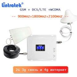 Lintratek 2G 3G 4G Signaal Booster Gsm Lte 4G Internet Signaal Versterker 900 1800 2100 Wcdma umts 2G 3G Bellen Telefoon Repeater