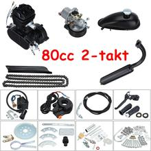 Motorcycle Stroke Gas Engine Kit For DIY Electric Bicycle Mountain Bike Complete Set Motor 2.5L / 100km