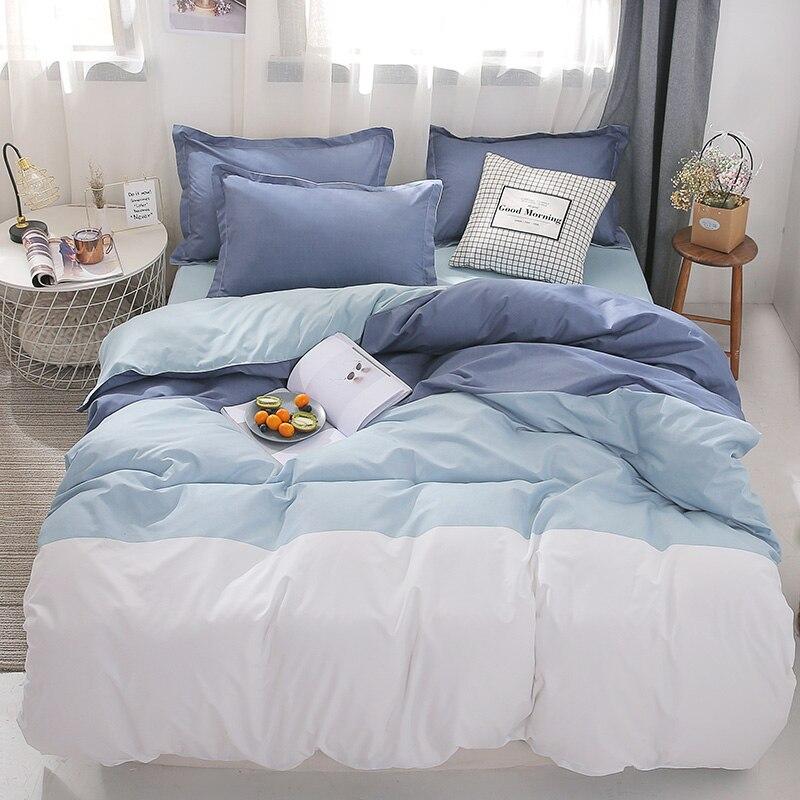 Stripe Leaf Duvet Cover Set Simple Nordic Bedding Set Quilt Cover Bed Sheet 220x240 King Size