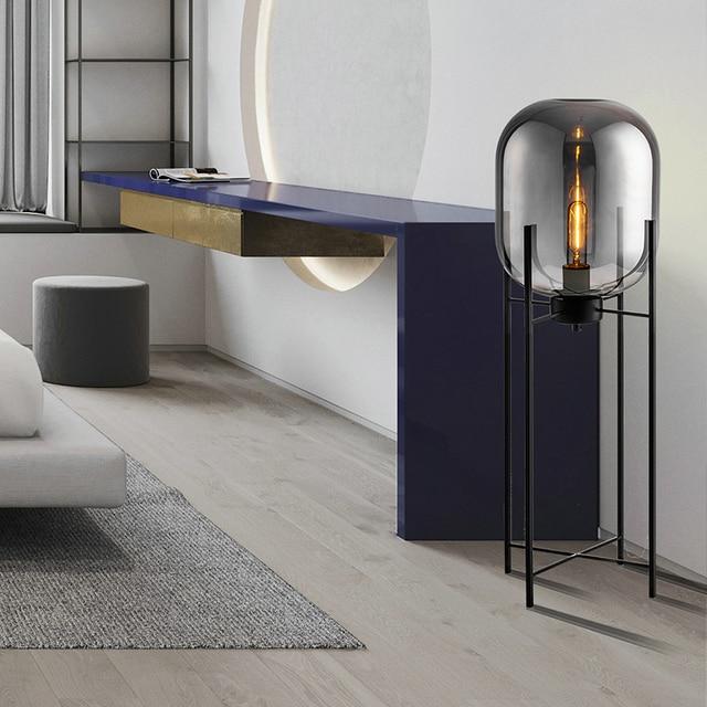 Postmodern lampadaire intérieur maison déco salon chambre Studio lampadaire mi siècle maison boule de verre décor vintage lampadaire